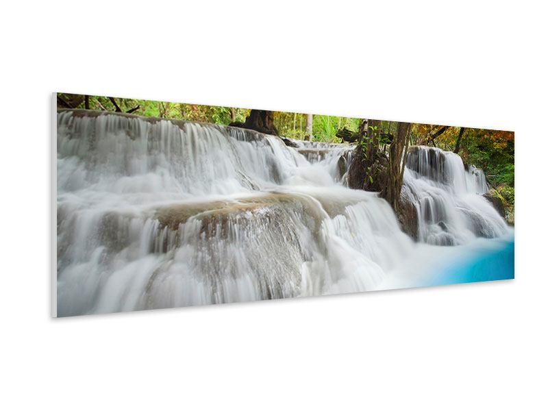 Hartschaumbild Panorama Erawan Wasserfall