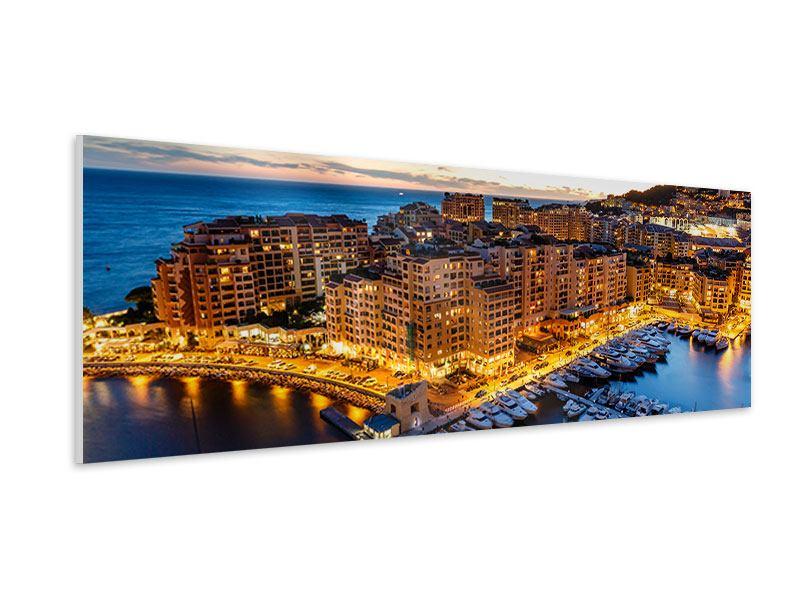 Hartschaumbild Panorama Monaco