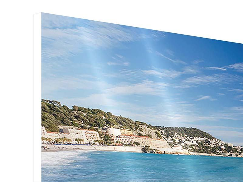 Hartschaumbild Panorama Cote D`Azur