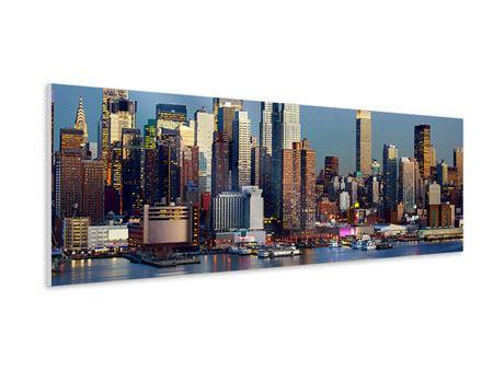 Hartschaumbild Panorama Skyline Midtown Manhattan
