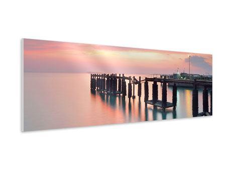 Hartschaumbild Panorama Der beruhigende Sonnenuntergang