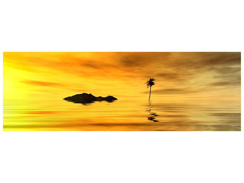 Hartschaumbild Panorama Ab auf die Insel