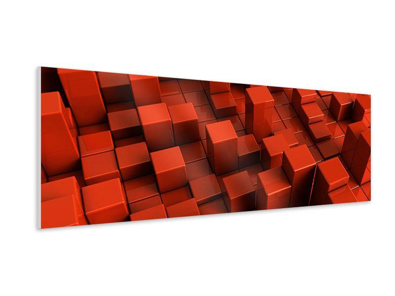Hartschaumbild Panorama 3D-Rechtkant