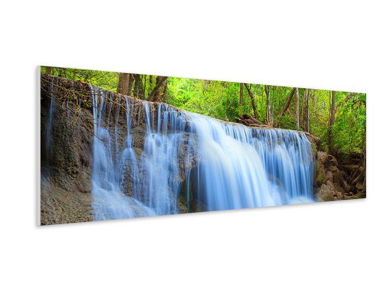 Hartschaumbild Panorama Wasserfall Si Nakharin