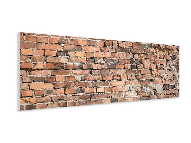 Hartschaumbild Panorama Alte Backsteinmauer