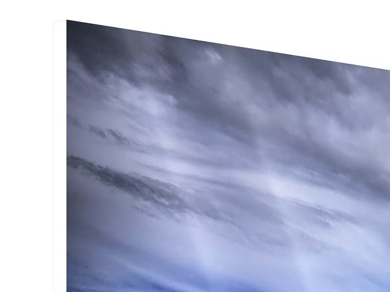 Hartschaumbild Panorama Strandwellen