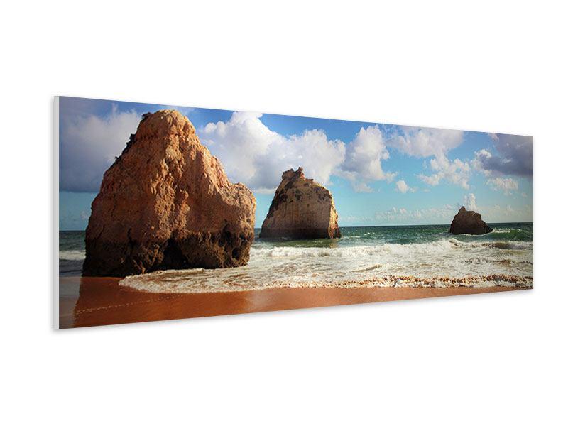 Hartschaumbild Panorama Strandgedanken