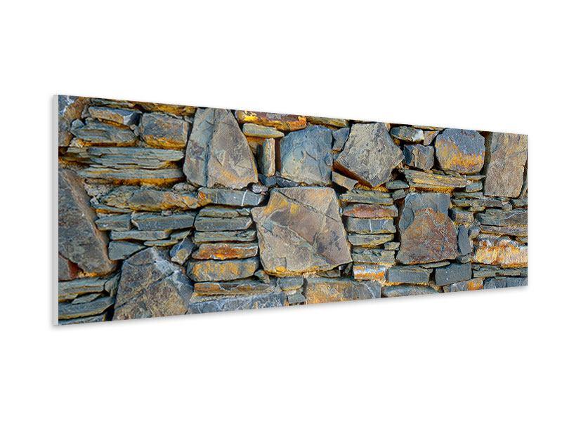 Hartschaumbild Panorama Natürliche Steinmauer