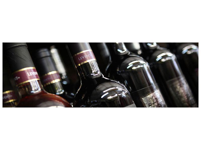 Hartschaumbild Panorama Flaschenweine