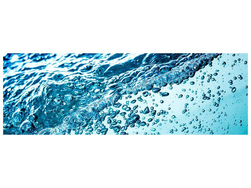 Hartschaumbild Panorama Wasser in Bewegung