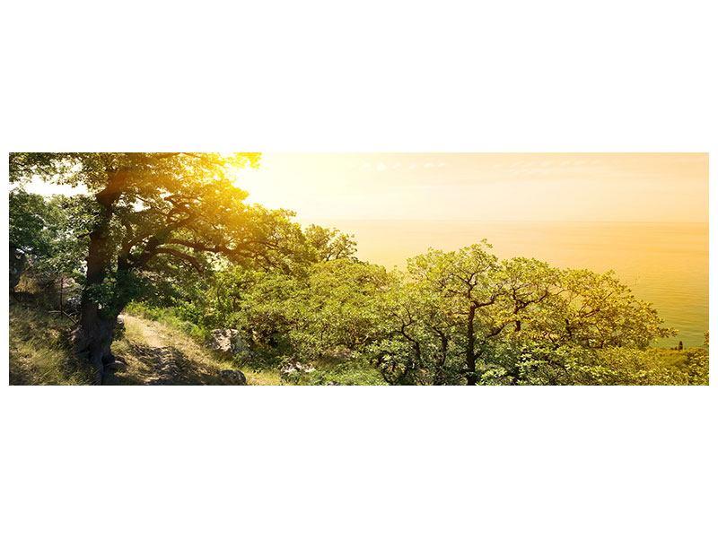 Hartschaumbild Panorama Sonnenuntergang in der Natur