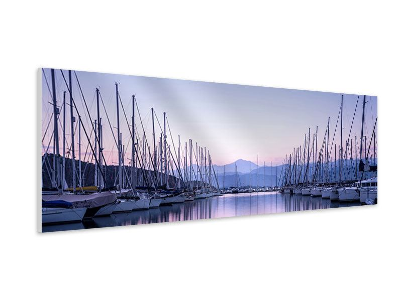 Hartschaumbild Panorama Yachthafen