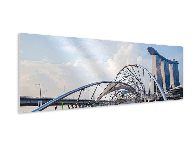 Hartschaumbild Panorama Helix-Brücke