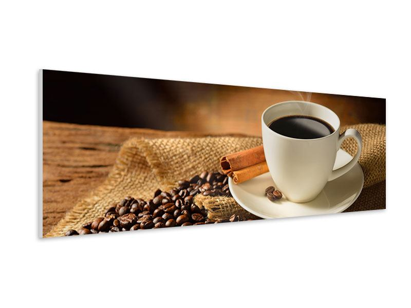 Hartschaumbild Panorama Kaffeepause