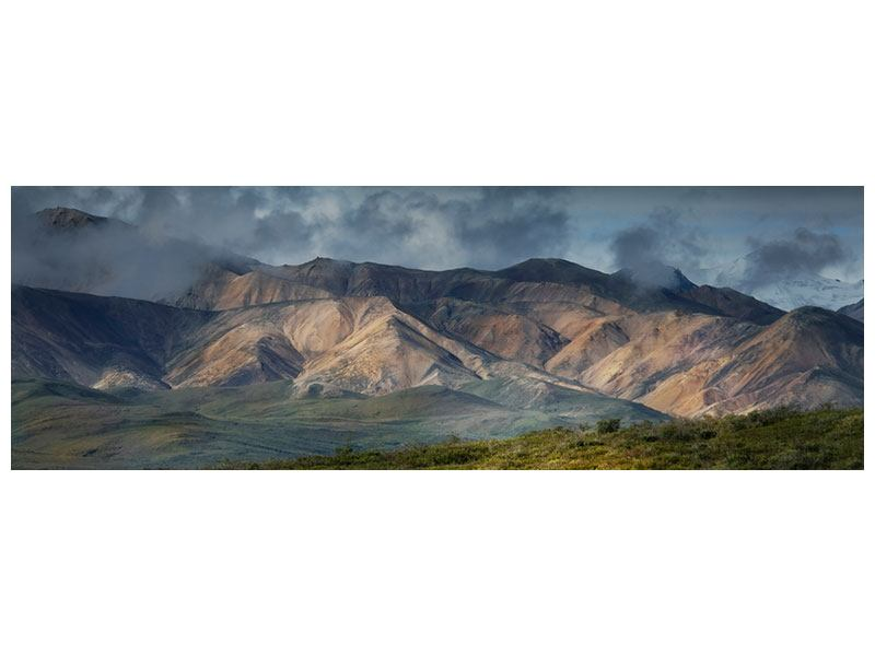 Hartschaumbild Panorama Silberstreifen