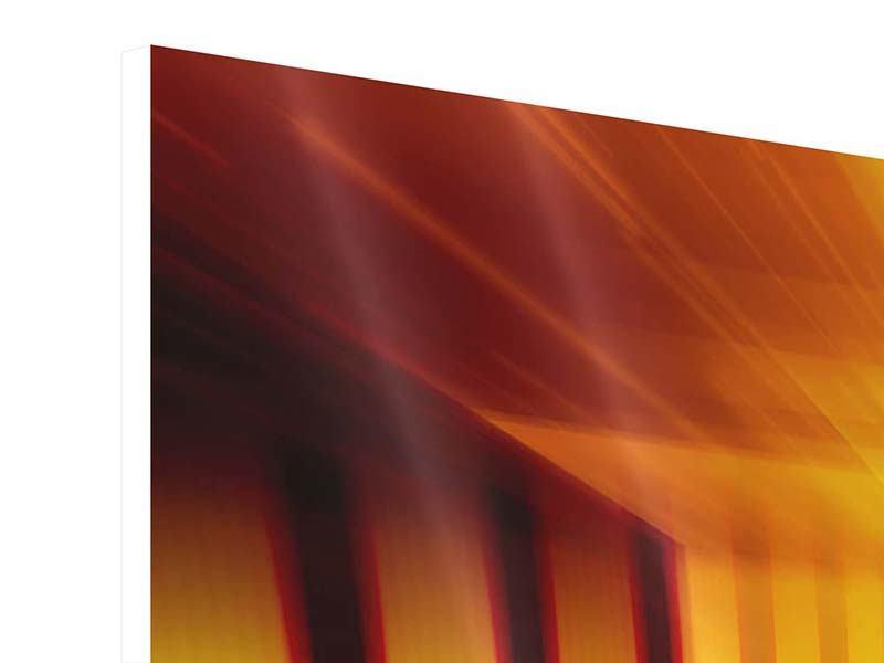 Hartschaumbild Panorama Abstrakter Goldener Raum