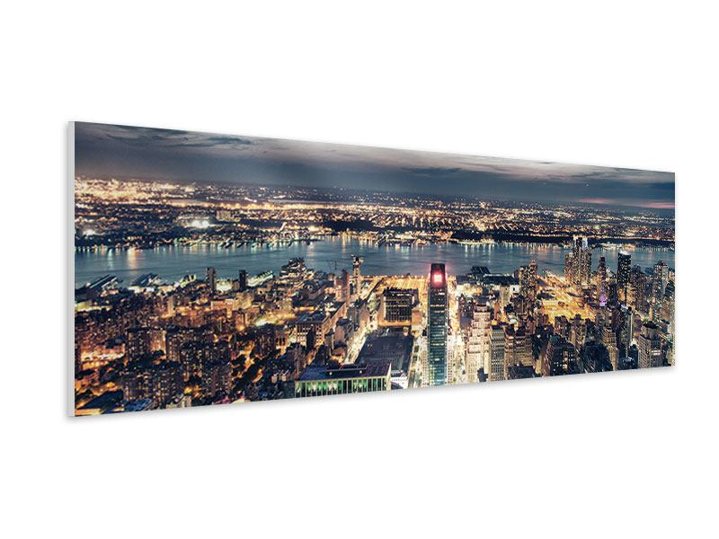 Hartschaumbild Panorama Skyline Manhattan Citylights