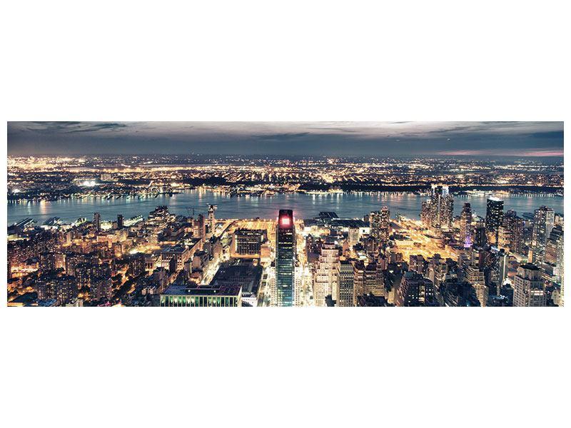 Hartschaumbild Panorama Skyline Manhattan Citylights