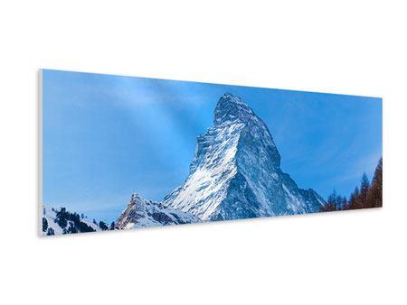 Hartschaumbild Panorama Das majestätische Matterhorn