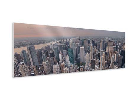 Hartschaumbild Panorama Skyline Blick über Manhattan