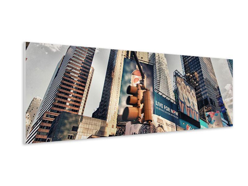 Hartschaumbild Panorama Times Square