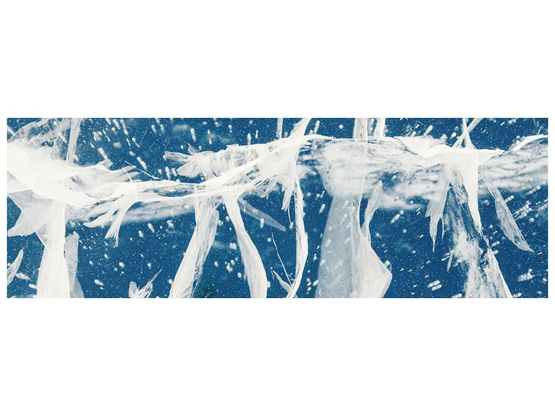 Hartschaumbild Panorama Eiskristalle