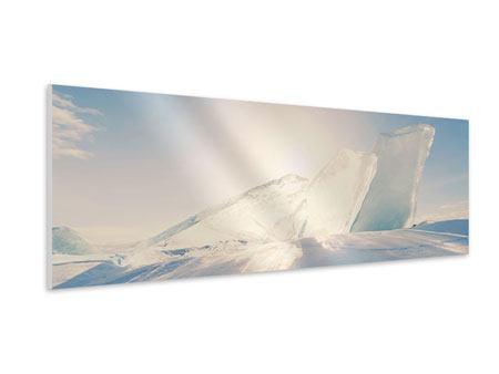 Hartschaumbild Panorama Eislandschaft