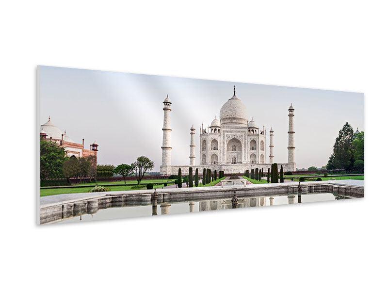 Hartschaumbild Panorama Taj Mahal