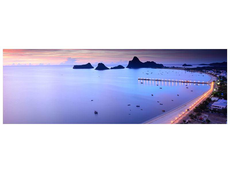 Hartschaumbild Panorama Ano Manao Bucht