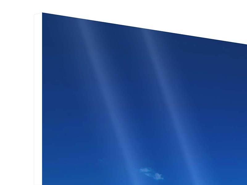 Hartschaumbild Panorama Die Trauminsel