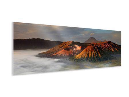 Hartschaumbild Panorama Der Bromo Vulkan