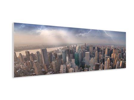 Hartschaumbild Panorama Manhattan