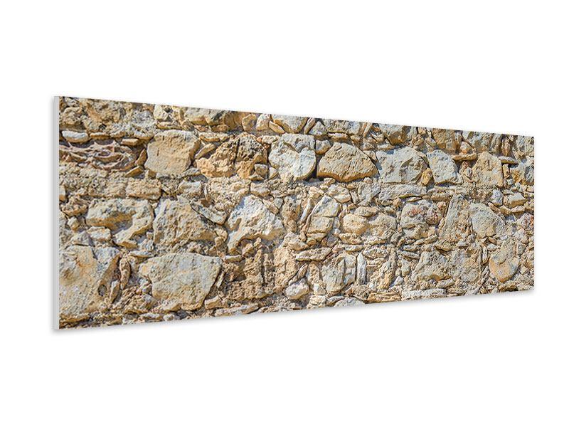 Hartschaumbild Panorama Sandsteinmauer
