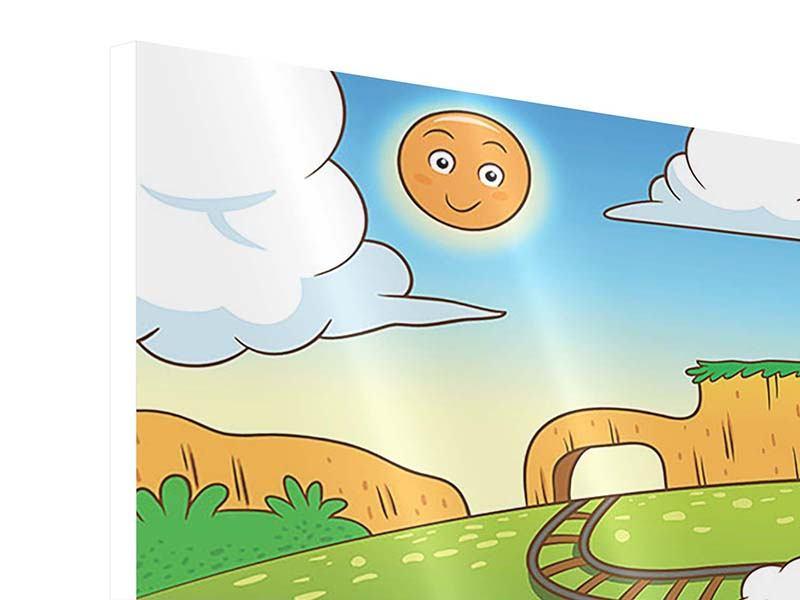 Hartschaumbild Panorama Zug Tiere