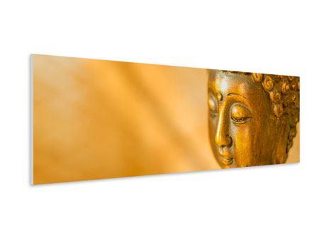 Hartschaumbild Panorama Buddha Kopf