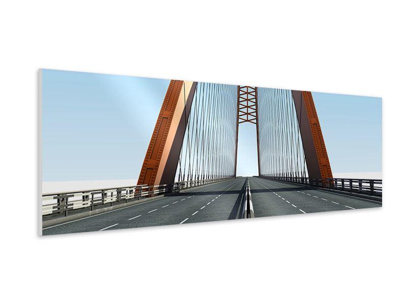 Hartschaumbild Panorama Brückenpanorama