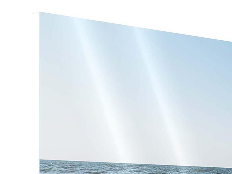 Hartschaumbild Panorama Sandspuren
