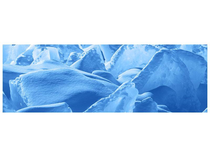 Hartschaumbild Panorama Eis des Baikalsees