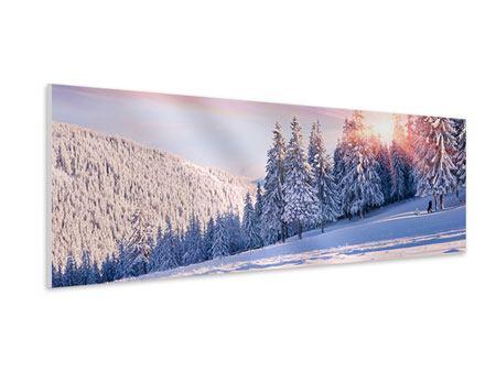 Hartschaumbild Panorama Winterlandschaft