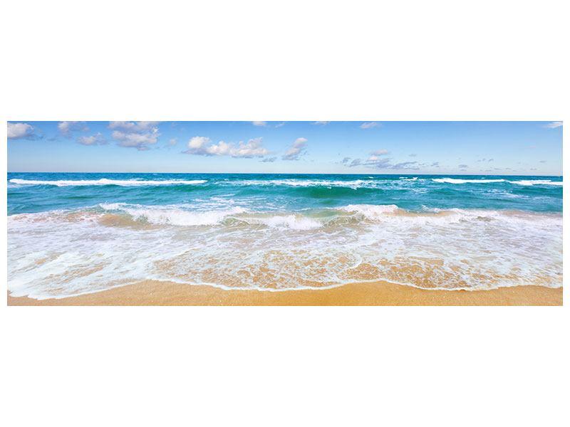 Hartschaumbild Panorama Die Gezeiten und das Meer