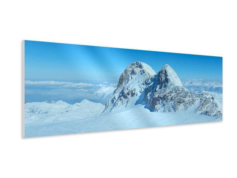 Hartschaumbild Panorama Über den Wolken