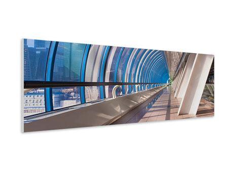 Hartschaumbild Panorama Hypermoderne Brücke