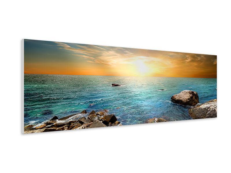 Hartschaumbild Panorama Meerwasser
