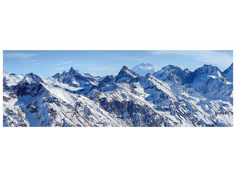 Hartschaumbild Panorama Gipfelspitzen