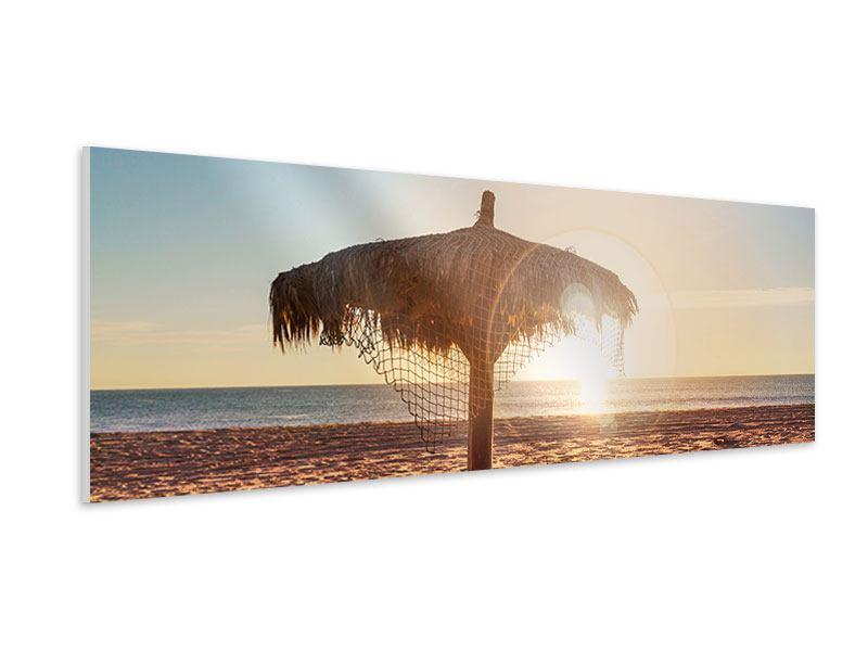 Hartschaumbild Panorama Der Sonnenschirm