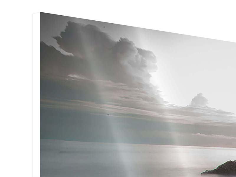 Hartschaumbild Panorama Steine am Strand