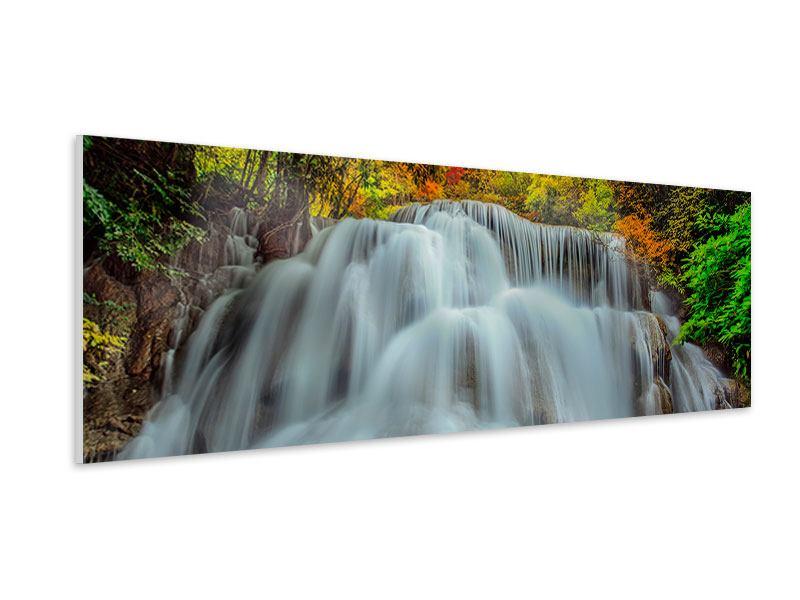 Hartschaumbild Panorama Fallendes Gewässer