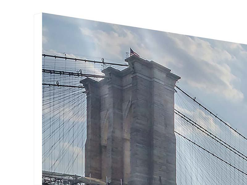 Hartschaumbild Panorama Brooklyn Bridge
