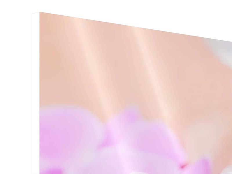 Hartschaumbild Panorama Manikürte Hände