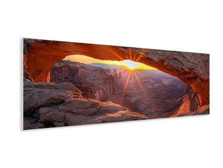 Hartschaumbild Panorama Sonnenuntergang am Mesa Arch